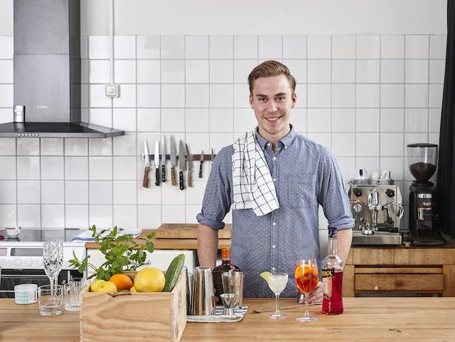 David Kringlund brinner för att hålla cocktailkonstens fana högt.