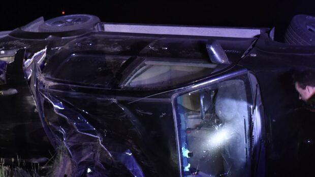 Biltjuv voltade av vägen efter biljakt – hade änglavakt