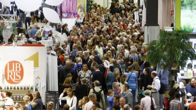 Bokmässan drar tusentals besökare. Foto: PATRIK C ÖSTERBERG