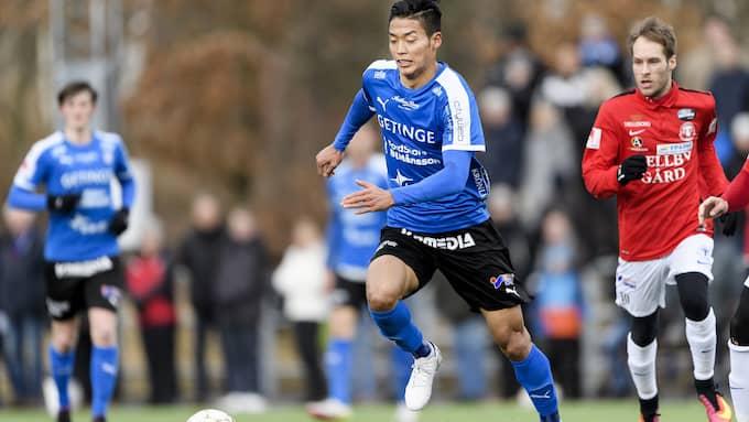 Kosuke Kinoshita gjorde ett mål i helgens träningsmatch mot Trelleborg. Foto: KRISTER ANDERSSON