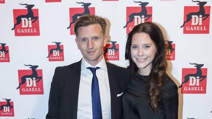 Johan Andersson, son till tidigare storinvesteraren Rune Andersson, här med frun Stina. Foto: ROBERT EKLUND / STELLA PICTURES