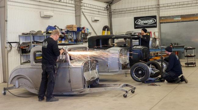 På Jocar Hot Rods bygger man 20 karosser per år som levereras till hela världen.