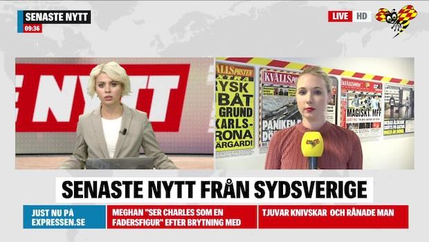 Här är morgonens nyheter från Sydsverige 2 juli