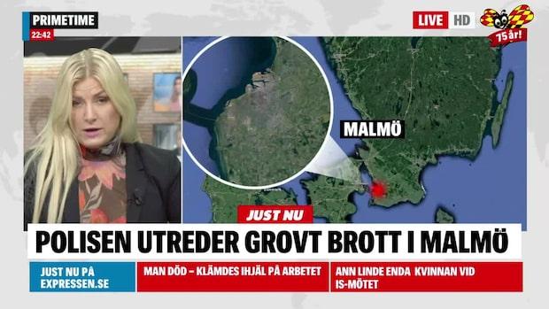 Polisen utreder misstänkt grovt brott i Malmö