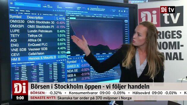 Marknadskoll: Börsen ner - oljebolagen lyfter