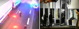 JUST NU: Sprängning vid polishus – stora skador