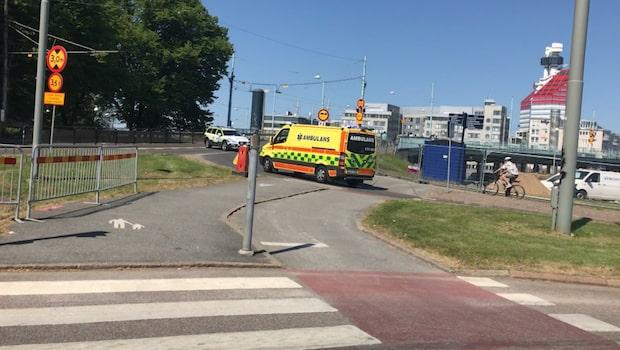 Två spårvagnar i krock i Göteborg