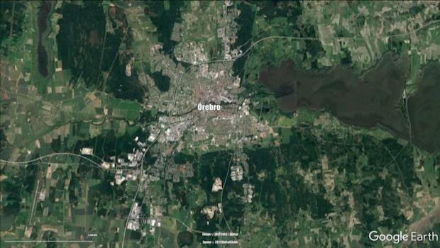 Två personer har skottskadats i Örebro