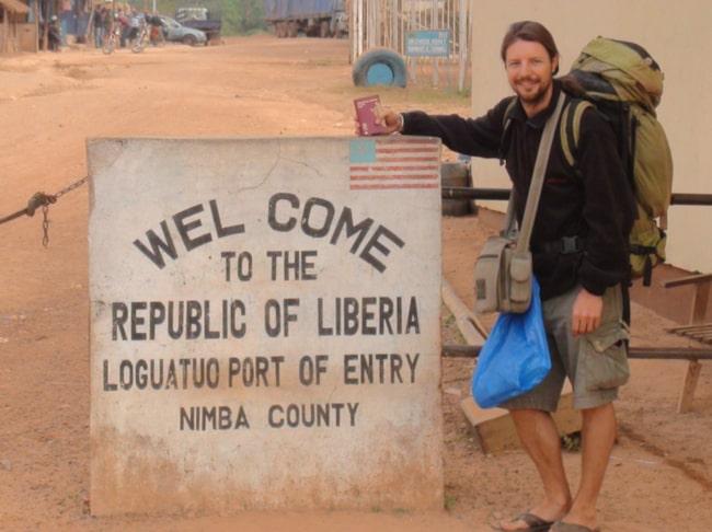 På väg in i Liberia.