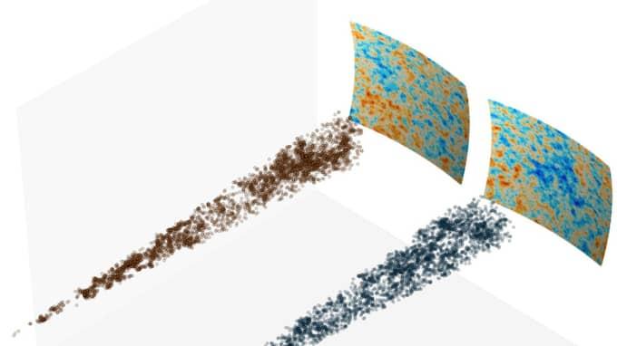 """Forskarna jämförde tätheten i den """"kalla fläcken"""" med andra områden i rymden. Foto: Durham University"""