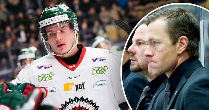 Buffalo Sabres scout Jan-Axel Alavaara är imponerad av Frölundas Victor Olofsson. Foto: BILDBYRÅN