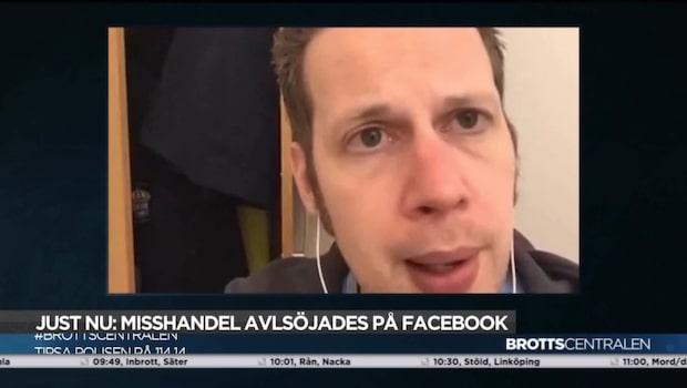 Misshandel mot kvinna sändes live på Facebook