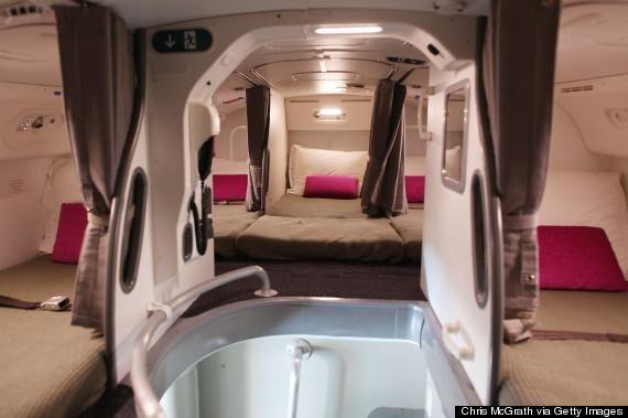 <span>Så här mysigt har personalen det i en Dreamliner.</span>