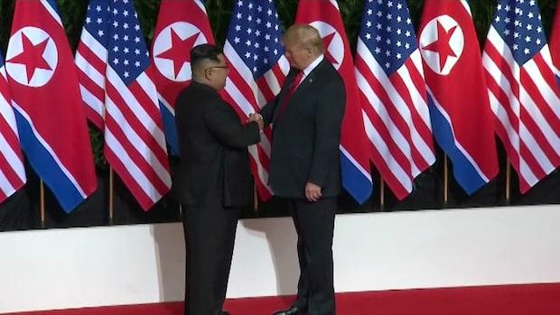 """Donald Trump: USA har """"gjort stora framsteg"""" i samtalen med Nordkorea"""