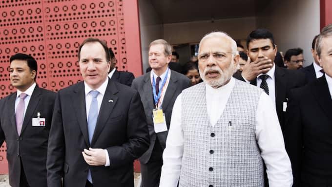 Stefan Löfven under besöket i Indien. Foto: Anna-Karin Nilsson