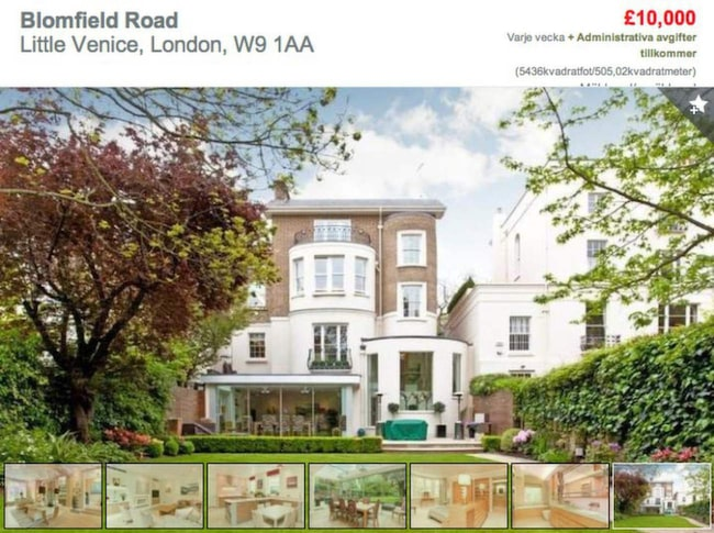 Hyr Robbie Williams hus mitt i London Leva& bo Expressen Leva& bo