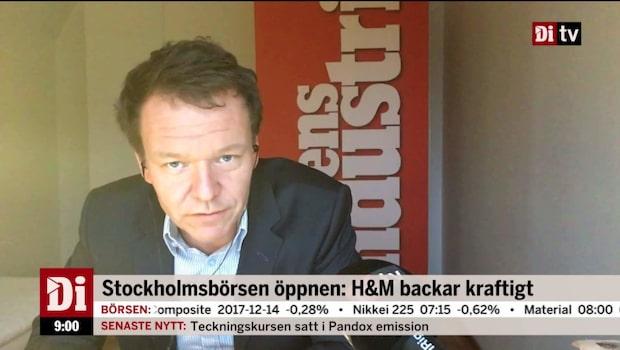 Stockholmsbörsen öppen: H&M backar kraftigt