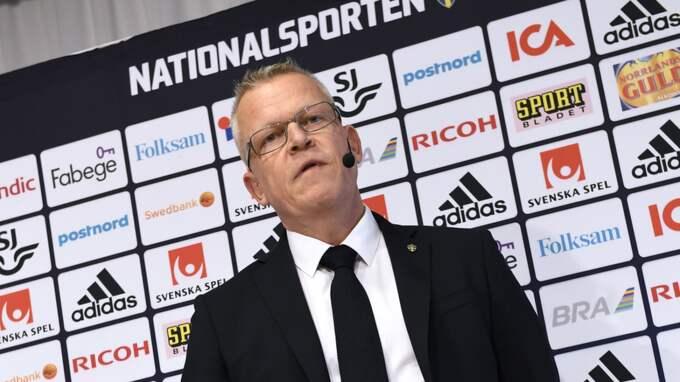 Janne Andersson, förbundskapten Sverige. Foto: Jonas Ekströmer/Tt / TT NYHETSBYRÅN