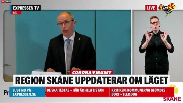 Region Skåne om coronaläget