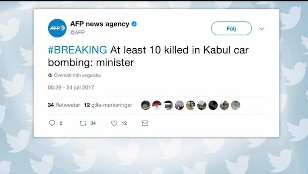 Flera döda i självmordsdåd i Kabul