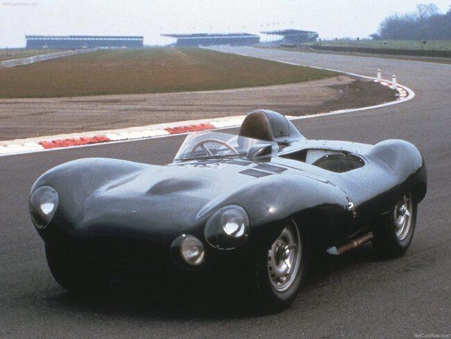 Jaguar D-Type från 1955. Nummer tre på listan.