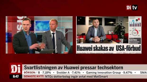 Svartlistningen av Huawei pressar techsektorn