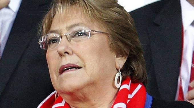 Mitt under veckan när Eurovision Song Contest ska avgöras i Stockholm ska kungen och drottningen ta emot Chiles första kvinnliga president Michelle Bachelet till Stockholm. Foto: Felipe Trueba/Epa/TT