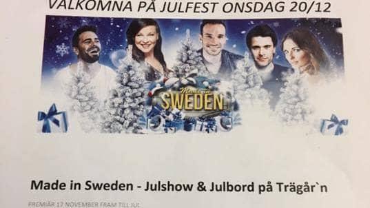 Den inbjudan som först skickades ut till undersköterskorna i kommunen lovade show och julbord. Foto: Privat