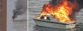 Tre skadade efter båtbrand i Stockholm