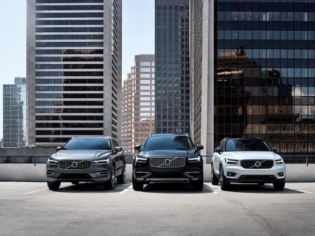 Volvos suv-uppställning leder den globala succén, speciellt i USA.
