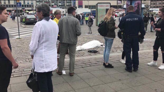 Åbo: Knivattacken utreds som ett terrorbrott