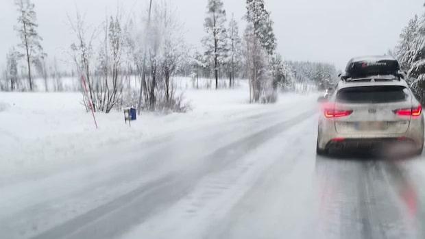 """Seppo har fastnat på vägen hem - på grund av halkan: """"Vi sitter helt stilla"""""""