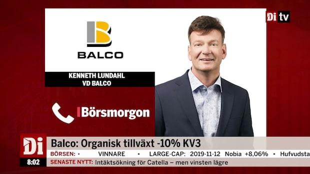 Balcos vd: Kommer bli bättre framöver