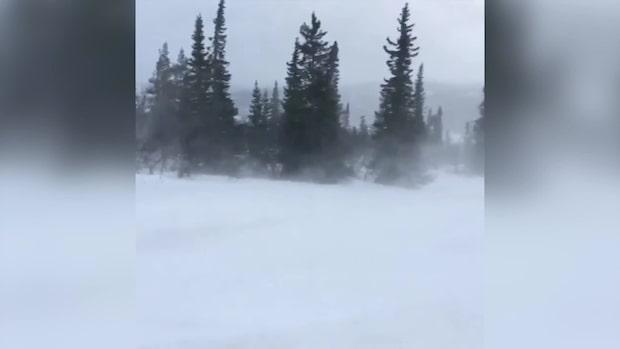 Klass 1-varning för stora mängder snö