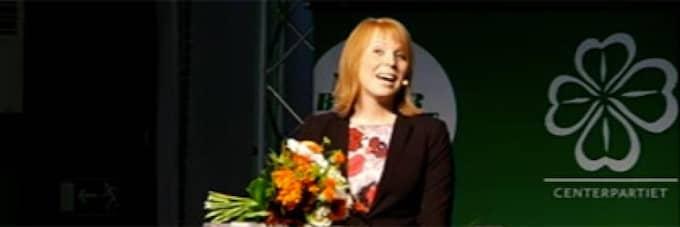Annie Lööf valdes till ny partiledare för Centern på fredagen.