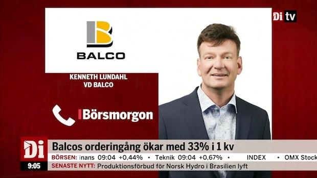 """Vd:n för Balco: """"Vi är nöjda med kvartalet"""""""