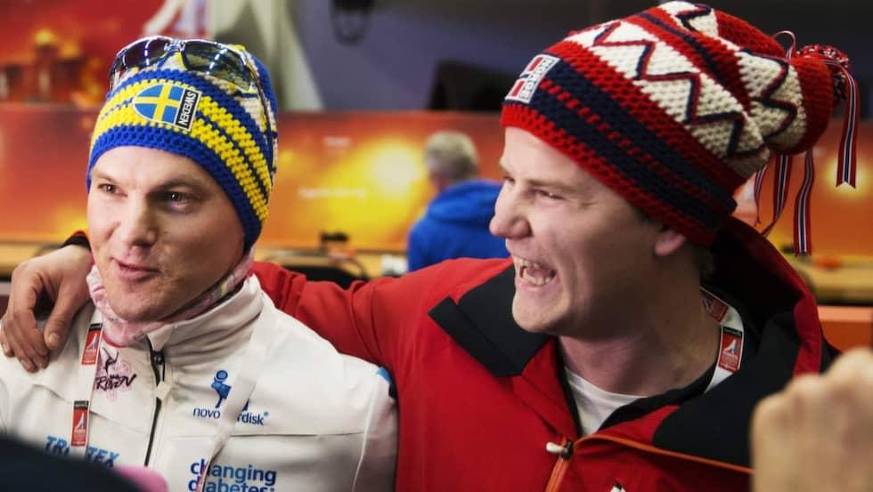 Bryntesson och Ramm någon timme senare. Foto: Nils Petter Nilsson