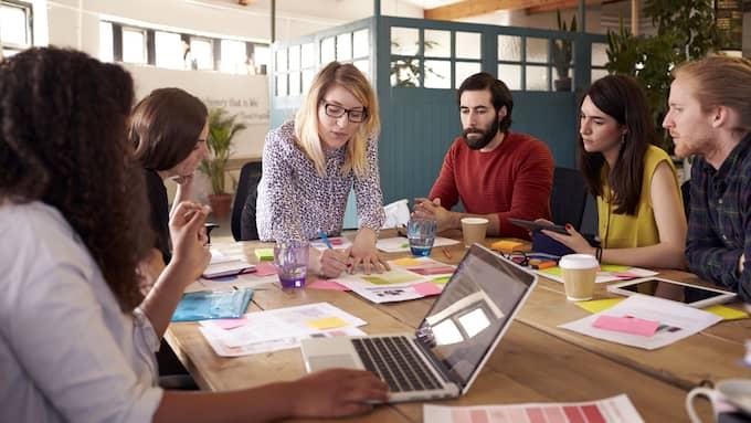 Föredrar du att arbeta ensam eller i grupp? Det är en vanlig fråga arbetsgivaren kan ställa under en anställningsintervju. Foto: SHUTTERSTOCK
