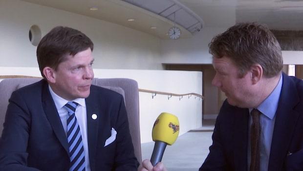 Bara politik: Se hela intervjun med talmannen Andreas Norlén