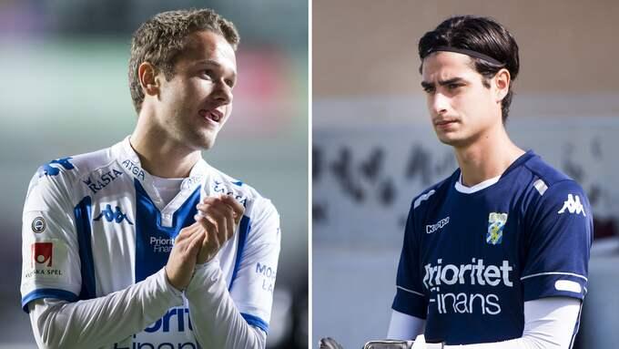 Andreas Öhman och Tom Amos har skrivit A-lagskontrakt. Foto: BILDBYRÅN