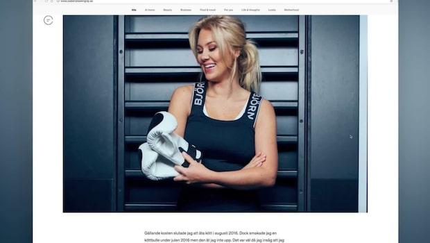Blondinbellas nya livsstil: Träning och vegankost