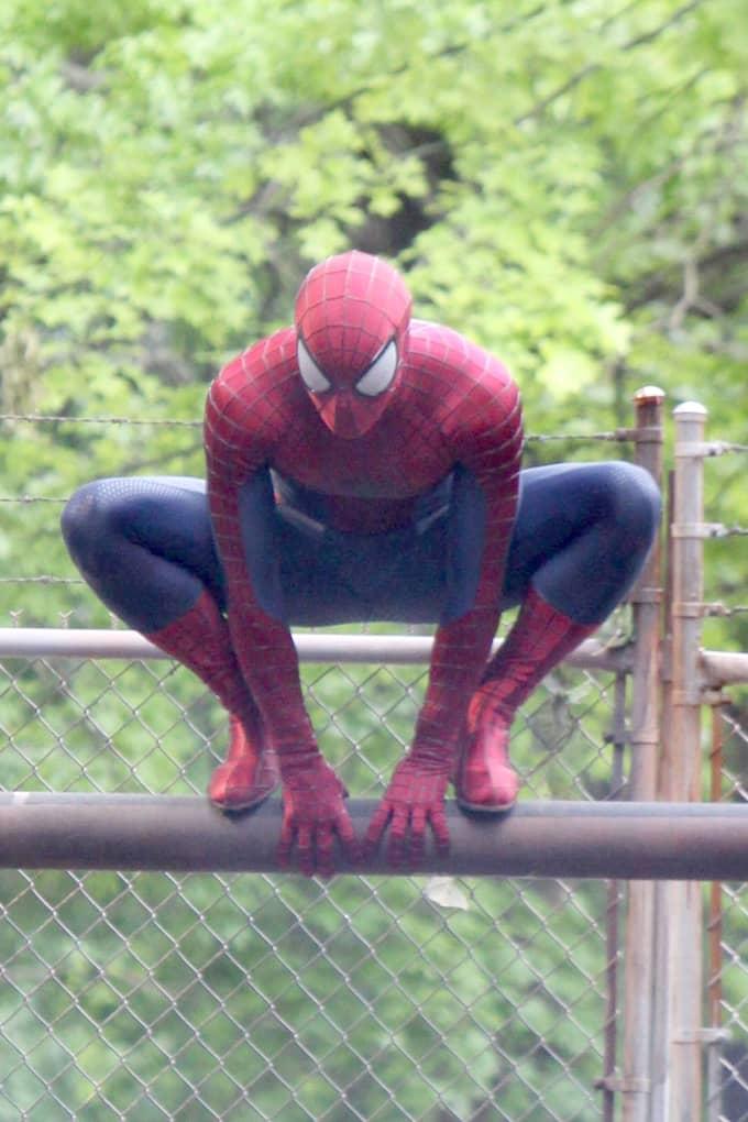 En av Stan Lees karaktärer, Spiderman, under en filminspelning 2013. Foto: JOSE PEREZ, PACIFICCOASTNEWS.COM / STELLA PICTURES PACIFICCOASTNEWS.COM