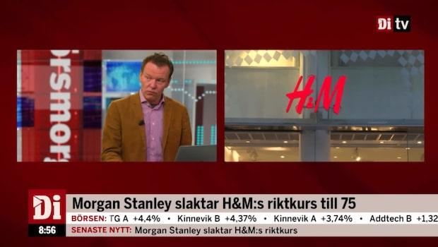 Morgan Stanley har sänkt sin riktkurs för modejätten H&M