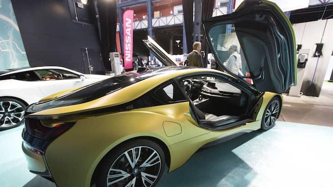 Ligan har specialiserat sig på att stjäla delar ur lyxbilar som till exempel BMW i8. Foto: THOMAS JOHANSSON/TT / TT NYHETSBYRÅN