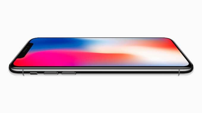 Världens blickar vändes mot Kalifornien och Apple, när de nya produkterna presenterades på tisdagskvällen. H'r syns den mest exklusiva: Iphone X. Foto: APPLE / POLARIS / APPLE / POLARIS POLARIS IMAGES