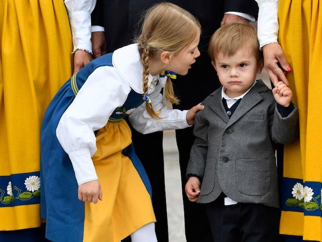 Prinsessan Estelle och prins Oscar firade nationaldagen även i fjol.