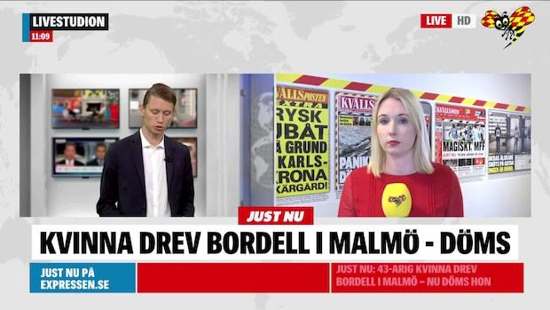 43-årig kvinna drev bordell i Malmö – nu döms hon