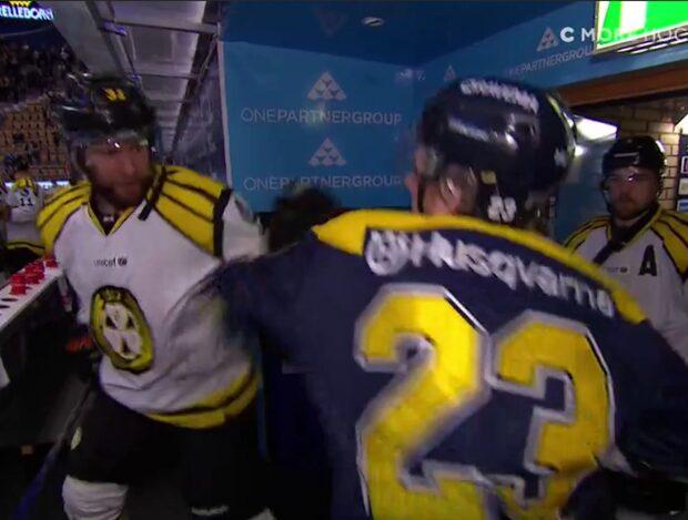 Slagsmål i spelartunneln innan SM-finalmatchen