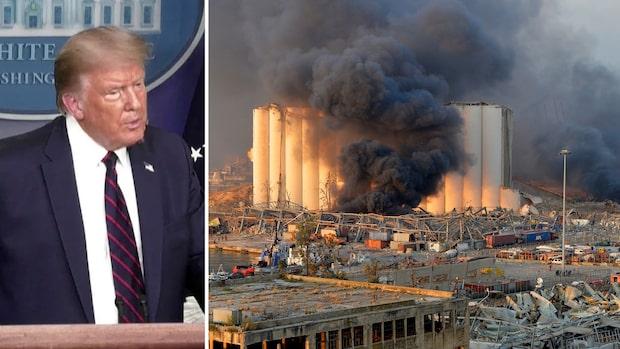 """Trump: """"Jag tror att det vara en attack"""""""