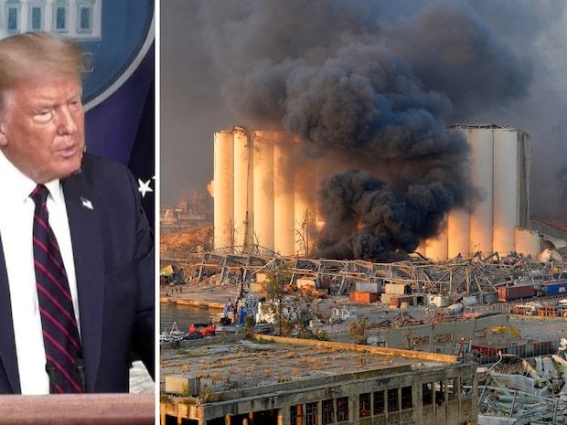 """Trump: """"Jag tror att det var en attack"""""""